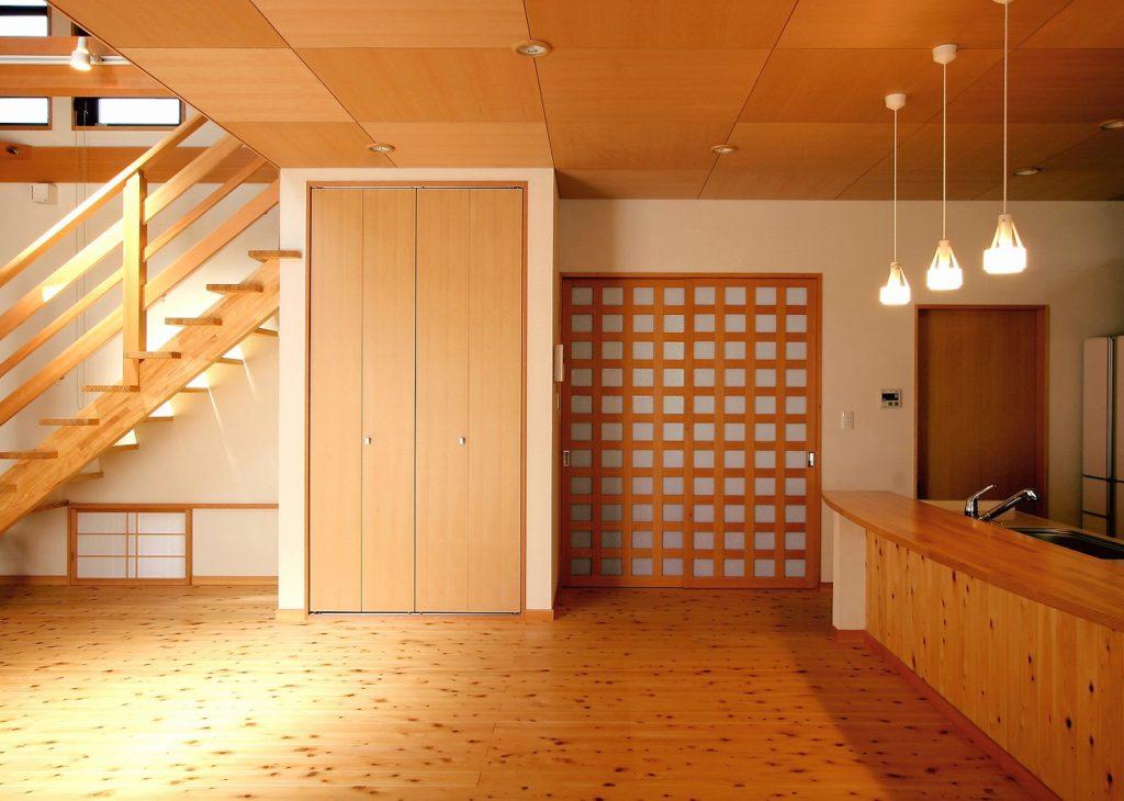 パントリー →シューズクローク → 玄関と動線がつながる家