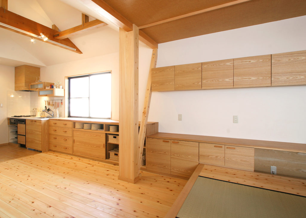 収納力抜群の作り付け家具