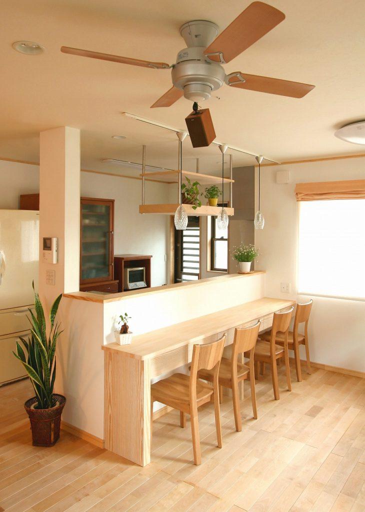 自然素材いっぱいの新居