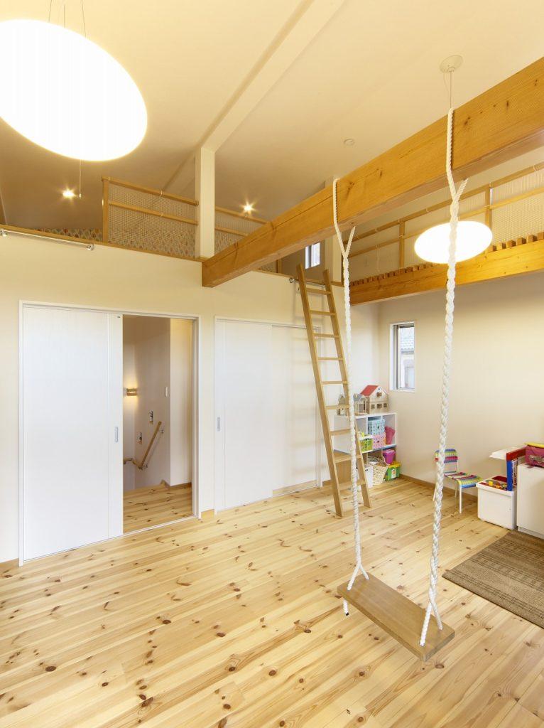 ロフト空間のある子供室