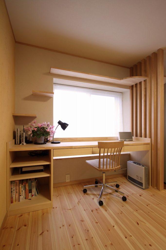 書斎スペースにキャットウォーク