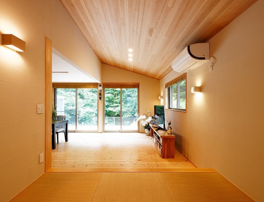 自然の流れを感じる新築住宅