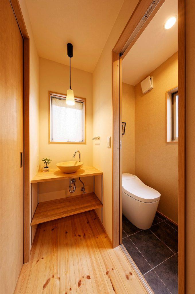 トイレと手洗いコーナー