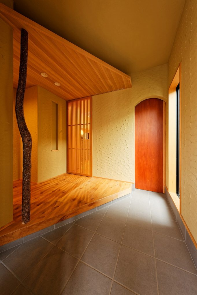 和の美しさを伝える玄関ホール