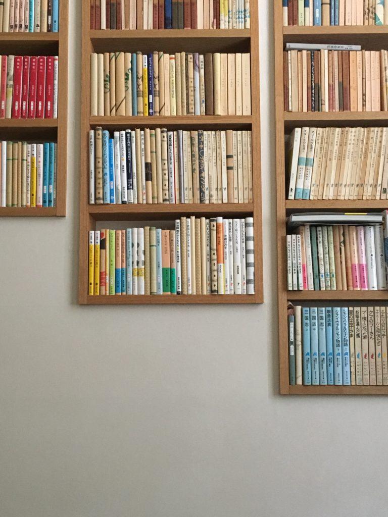 階段の本棚 入庫