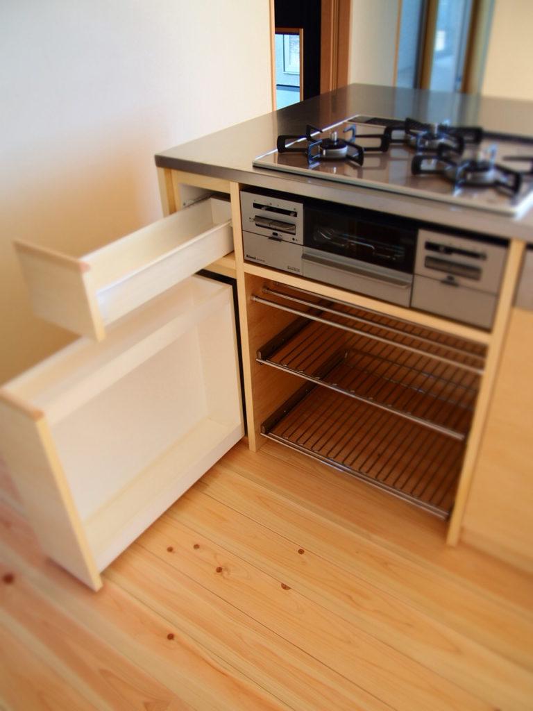 機能的なキッチンコンロまわり