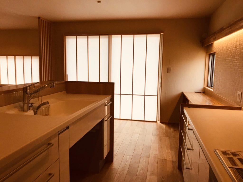 プラスαの新築キッチン(中側)