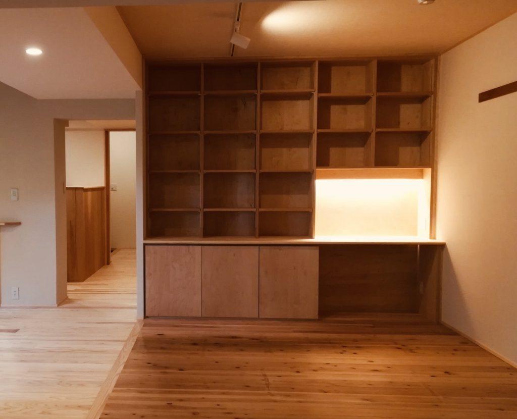 書斎となる本棚