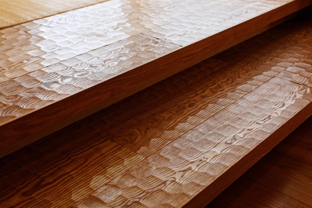 亀甲なぐりの床材
