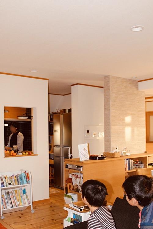 パーソナルスペースを重視したキッチン