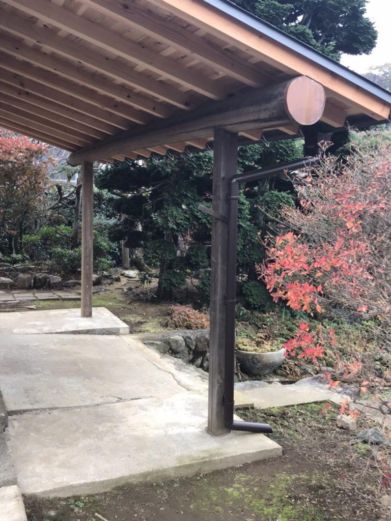 蔵の庇 築100年を超える蔵の再生