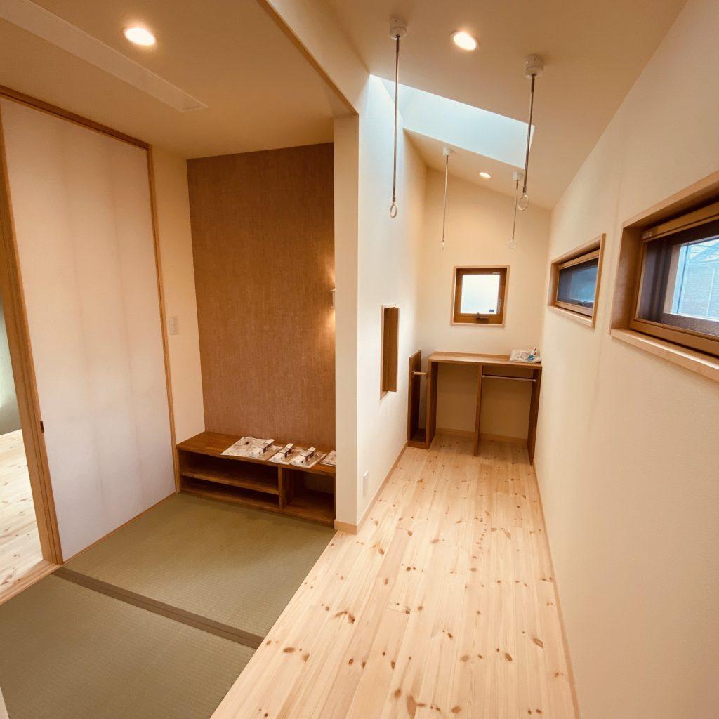 室内干しスペース増築